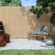 Jarolift Cañizo de PVC para Jardín, Listón 13mm de Ancho, STANDARD, Bambú, 120x300cm