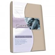 Carese Luxe Badstof Hoeslaken - Stretch - Zand 80/90 x 200/220
