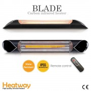 Luxway Terrassvärmare Heatway Blade Svart 2000W