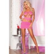 Zavodljiva roze mini haljina sa otvorima PINKLIP089