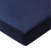 Bioflanellen hoeslaken, nachtblauw 70 × 140 cm