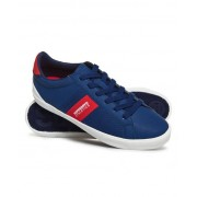 Superdry Vintage Court Trainers Navy