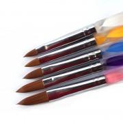 5 Stuks Vijf SizeProfessionele Acryl vloeistof Voor Nail Art Pen Brush UV Gel Nail Acryl poeder MyXL
