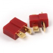 2 Pair T Plug Male and Female Connectors Deans Style for Rc Lipo Battery Esc