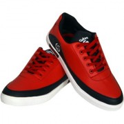 Sukun Red Black Casual Shoes For Men
