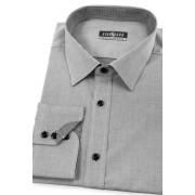 Pánská košile SLIM zevnitř kostkovaná šedá Avantgard 125-2123-41/42/182