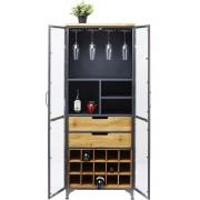 Kare Design - Refugio Vitrinekast 2-Deurs - 60x40x156 - Vintage Metaal