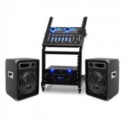 Ibiza Set PA para DJ en rack Uranus Blues Bluetooth 250 personas (PL-Uranus-BT)