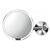 simplehuman wandmontierter Sensorspiegel - polierter Stahl - Ø 20 cm