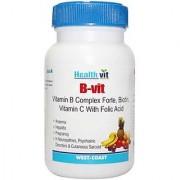 HealthVit B-VIT Vitamin B Complex with Bioton Vitmain C Folic Acid 60 Tablets