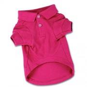 "Zack & Zoey Cotton Polo Shirt for Dogs, 12"" Small, Raspberry Sorbet"