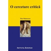 O cercetare critica ed. a II-a