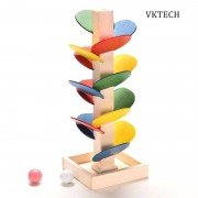 Wooden Toys for Children Colorful Building Blocks Tree Marble Ball Run Track Baby Game Wood Educational Toy Brinquedos