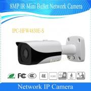 Free Shipping DAHUA Security IP Camera CCTV 8MP FULL HD IR Mini Bullet Network Camera IP67 with POE Without Logo IPC-HFW4830E-S