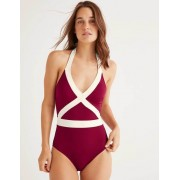 Boden Rote Maulbeere Kefalonia Badeanzug Damen Boden, 36, Red