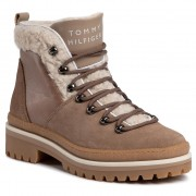 Trappers TOMMY HILFIGER - Cosy Outdoor Bootie FW0FW04349 Tiger's Eye 204