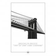 Sverigemotiv-Brooklyn Bridge New York Poster 50x70cm
