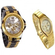Rosra Black-Gold Men And Rosra Gold Ledish Watches For Men Women by miss