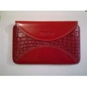 Червен калъф за Samsung Galaxy Tab от естествена кожа