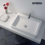 Ambra Vasque à poser rectangulaire 60 cm en Solid surface - Tanaho