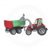 Bruder Jouet Roadmax Tracteur avec chargeur frontal et remorque