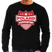 Bellatio Decorations Polen / Poland schild supporter sweater zwart voor heren L - Feesttruien