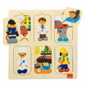 Puzzle Profesiones Madera goula - Diset