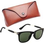 Royce Wayfarer, Retro Square, Rectangular Sunglasses(Green)