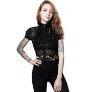 Ženska majica - Liana Ruffle - KILLSTAR - KSRA001895