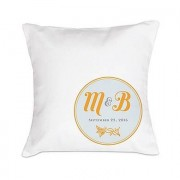 "Confetti ""Notable"" Personalised Ring Cushion with Circle Floral Monogram"