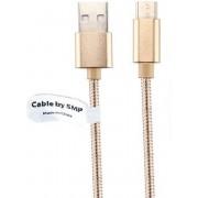 1 m Oplaadkabel. Metal Head USB kabel oplaadsnoer voor snelladen. Past ook op Doro. PhoneEasy 612, 613, 614, 615, 621, 622, 624, 2414, 2424, 5030, 5516, 6050, 6520, 7060,