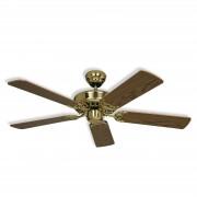 Ceiling fan Royal 103, brass, antique oak