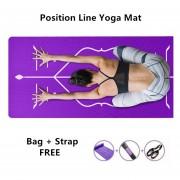 Línea De Posición De Alineación Tapete De Yoga Grosor 10mm