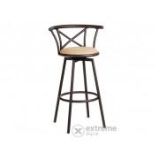 Hailey barska stolica, fiksna, smeđa, Dimenzije: 99x56x56 cm
