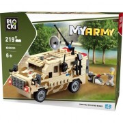 Joc constructie Blocki , Vehicul militar scut , 219 piese , Robentoys