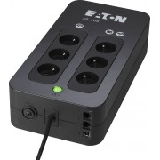 Eaton 3S 700 FR 700VA 6AC outlet(s) Mini Toren Zwart UPS