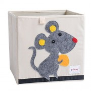 YeahiBaby Toy Storage Box Fabric Chest Toy Container Without Cover Waterproof Storage Cubes Origanizer (K-Naughty Mouse)