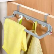 Suport prosoape si accesorii bucatarie pentru usa dulap