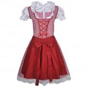 vidaXL Karnevalový kostým - bavorské děvče se zástěrkou L / XL - červený