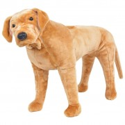 vidaXL Standing Plush Toy Labrador Dog Light Brown XXL