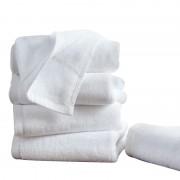 Set 5 prosoape tip hotelier 50x100 cm alb 100% bumbac