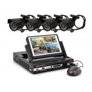 """Kamerový systém black, 4-kanálový DVR s LCD 7"""" + 4x IR kamera"""