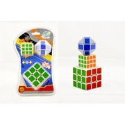 Set of 3 Speed Cubes by BuyerFan | Game Puzzle | 3 in 1 Pack |Cube in Low Price | Build Your Mind Creativity