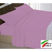 Coordinabili Parure Sacco Copripiumino Una Piazza e Mezza Prodotto Italiano Puro Cotone CICLAMINO