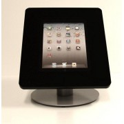 Tablet Tafelstandaard model Meglio for 9-11.1i tablets portrait/landscape/cable integration/Stainless steel stand acrylic tablet holder in black