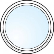 Dörrtema Fönster 3-glas energi argon rund vitmålat Modul diameter 7