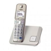 """Безжичен телефон Panasonic KX-TGE210FXN, 1.8""""(4.57 cm) монохромен дисплей, сребрист"""
