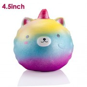 WATINC 1Pcs Jumbo Animal Squishy Sweet Scented Vent Charms Slow Rising squishies Kawaii Kid Toy, Lovely Stress Relief Toy, Animals Gift Fun Large(Colorful Unicorn)