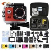 """TEKCAM Cámara de Acción WIFI F60 1080p HD V3 4 K/30fps 2,0 """"170D pro cámara de casco 30 metros impermeable deportes DV cámara de coche(#Rosa)(#option 6)"""