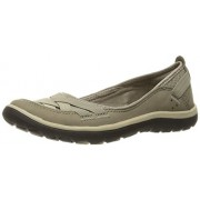 Clarks Women's Aria Pump Flat, Sage Synthetic, 6 M US